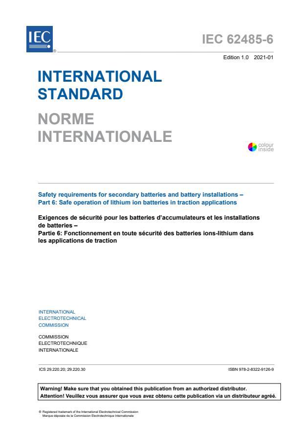 IEC 62485-6:2021