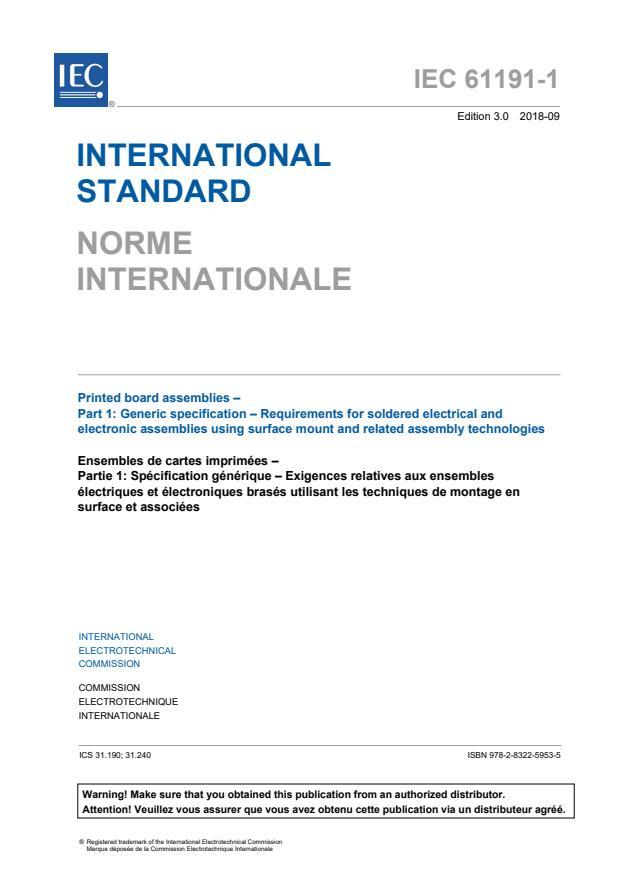 IEC 61191-1:2018