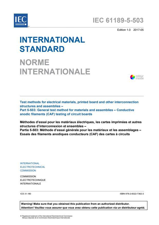 IEC 61189-5-503:2017