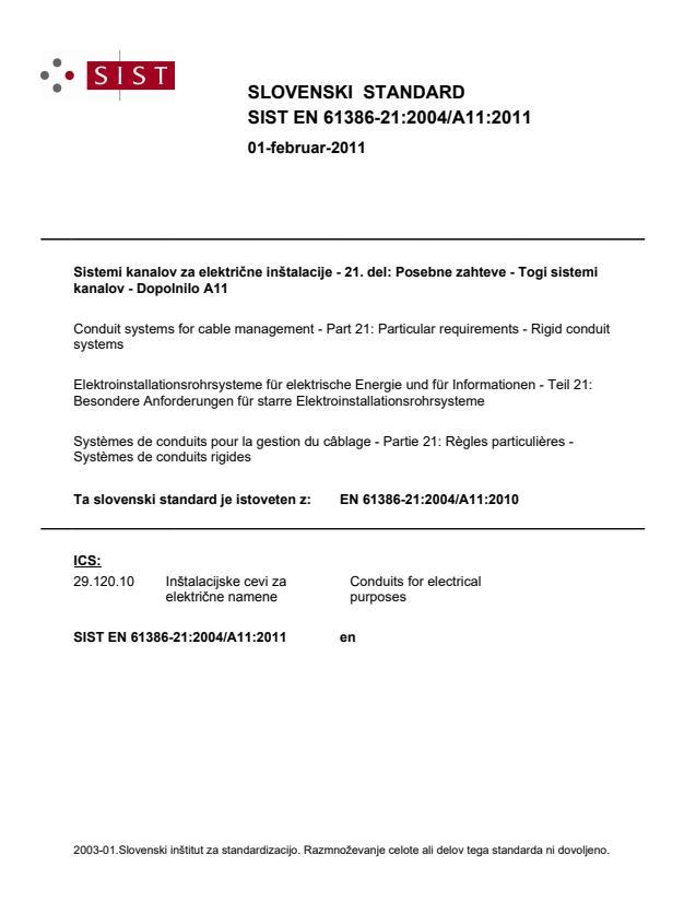 SIST EN 61386-21:2004/A11:2011