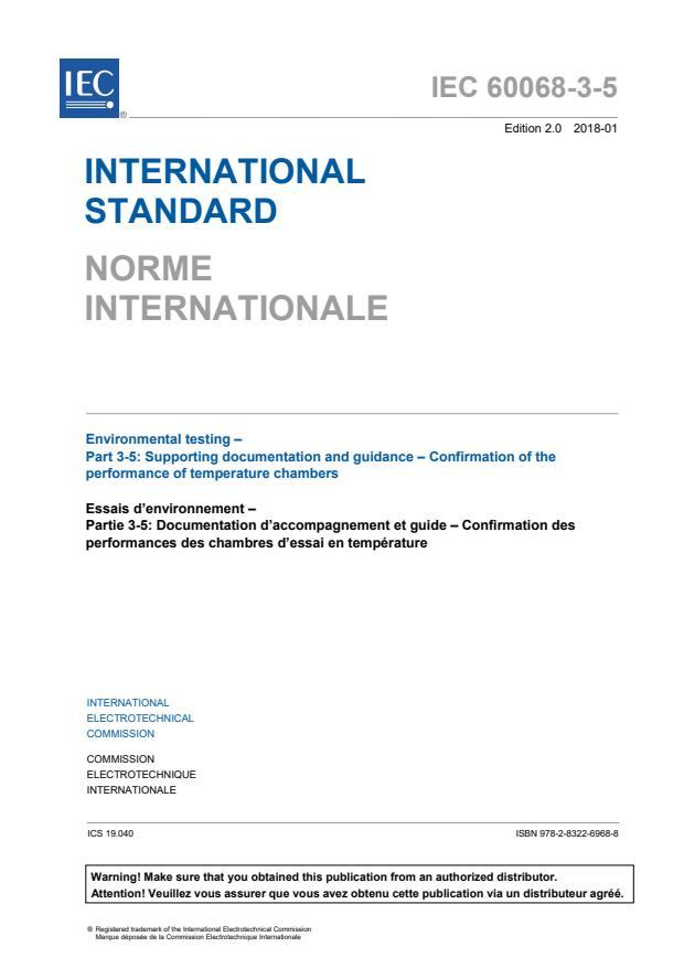 IEC 60068-3-5:2018