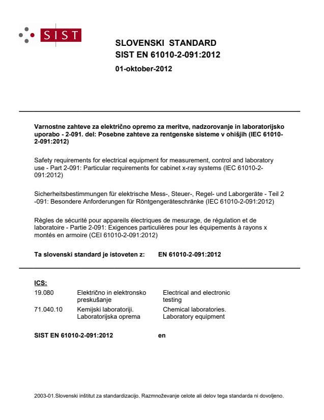 EN 61010-2-091:2012