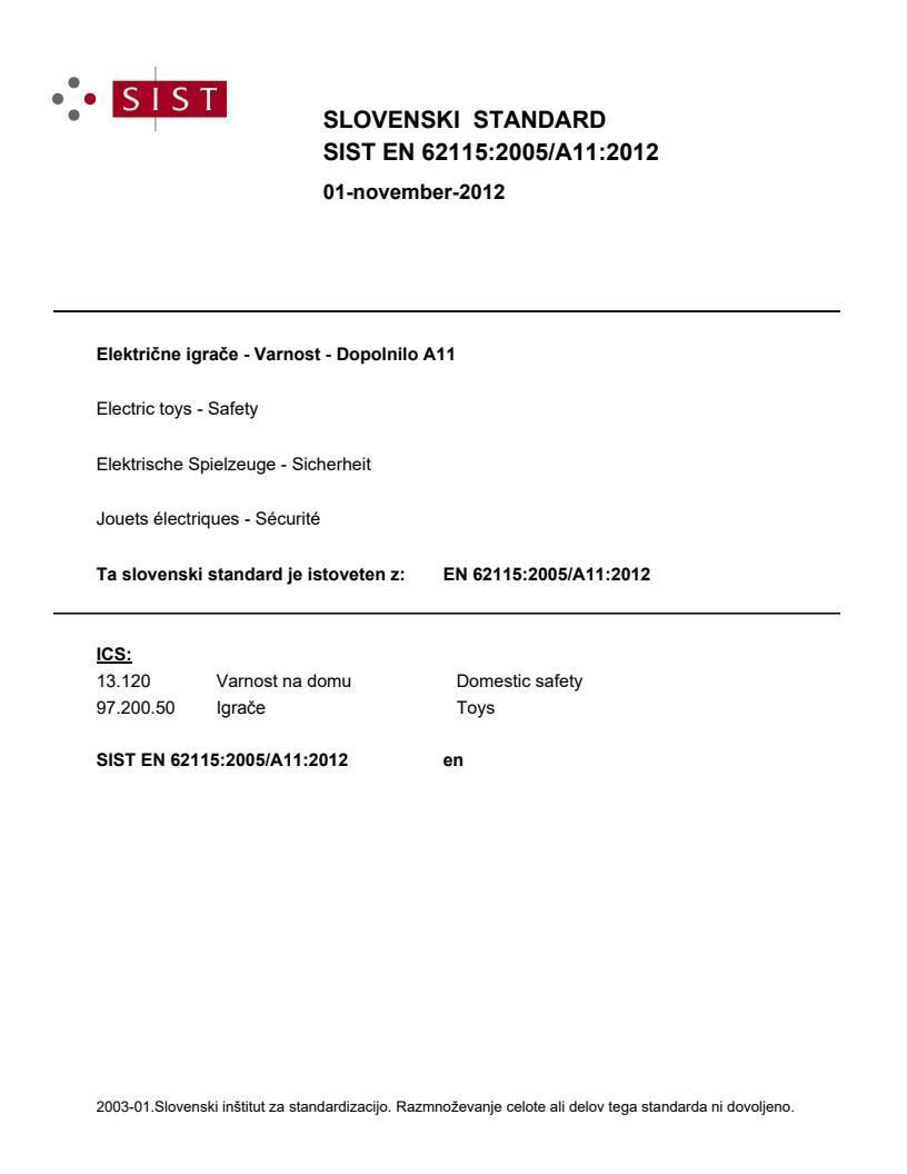 EN 62115:2005/A11:2012
