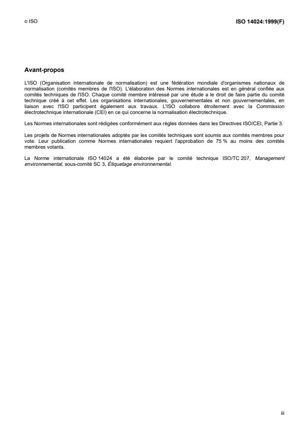 ISO 14024:1999 - Marquage et déclarations environnementaux -- Étiquetage environnemental de type I -- Principes et méthodes