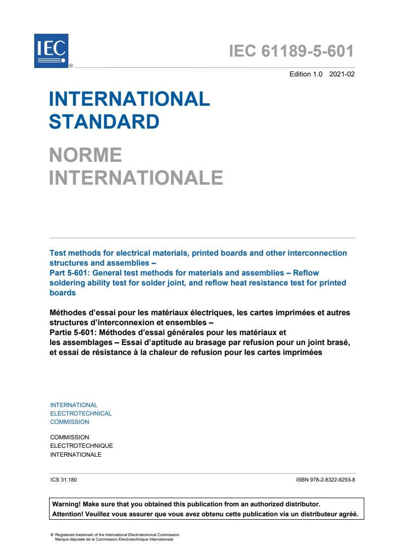 IEC 61189-5-601:2021