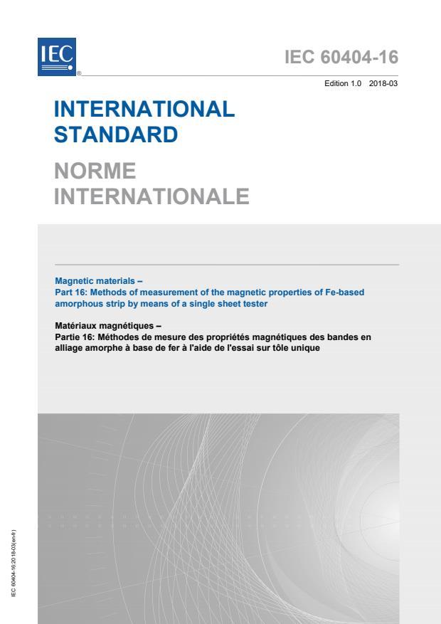 IEC 60404-16:2018