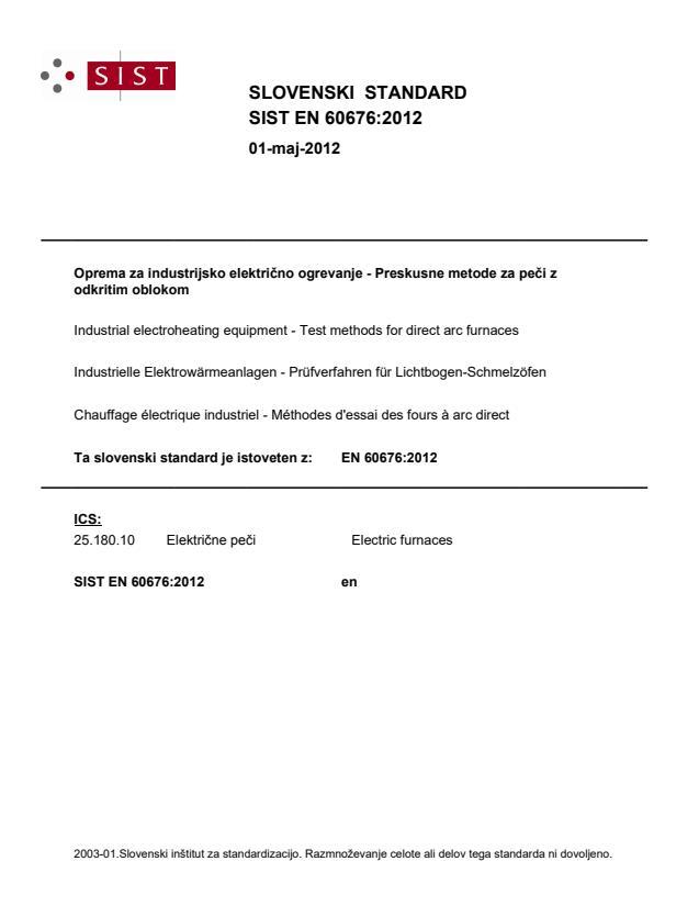 SIST EN 60676:2012