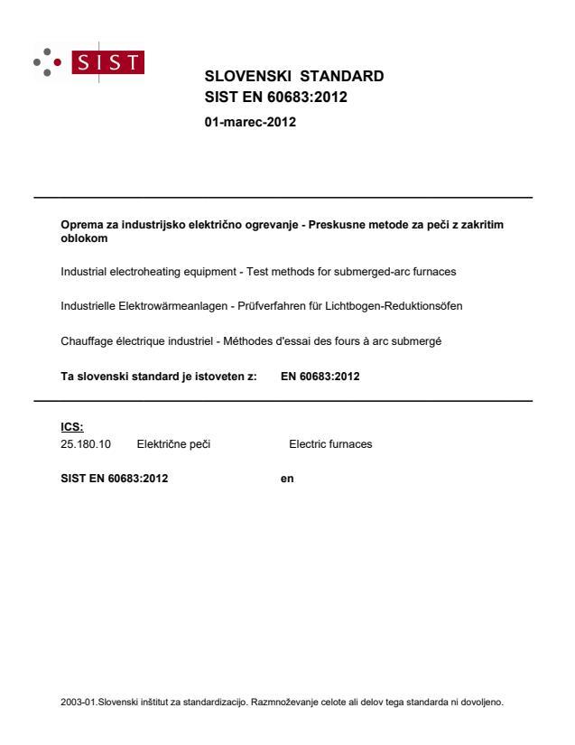 SIST EN 60683:2012