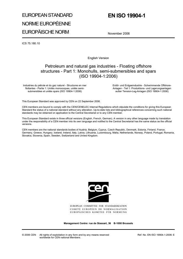 SIST EN ISO 19904-1:2007