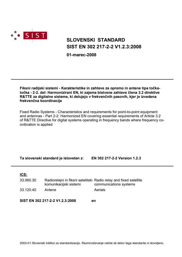 SIST EN 302 217-2-2 V1.2.3:2008