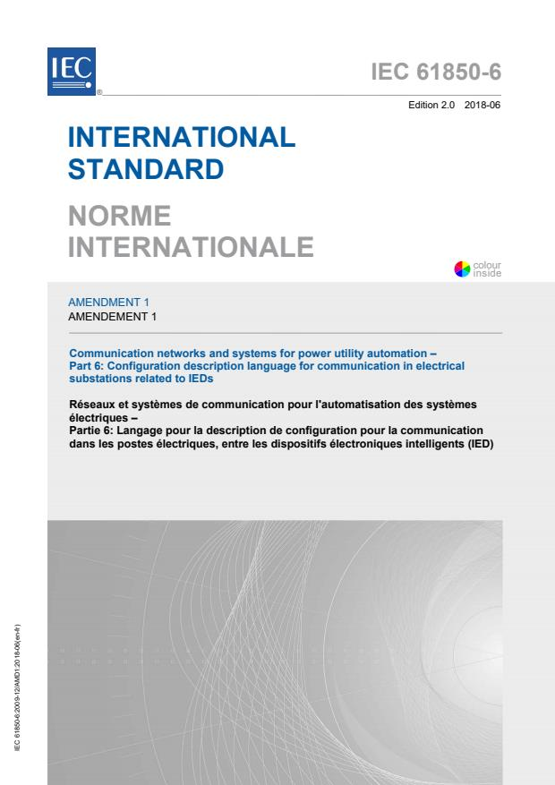 IEC 61850-6:2009/AMD1:2018