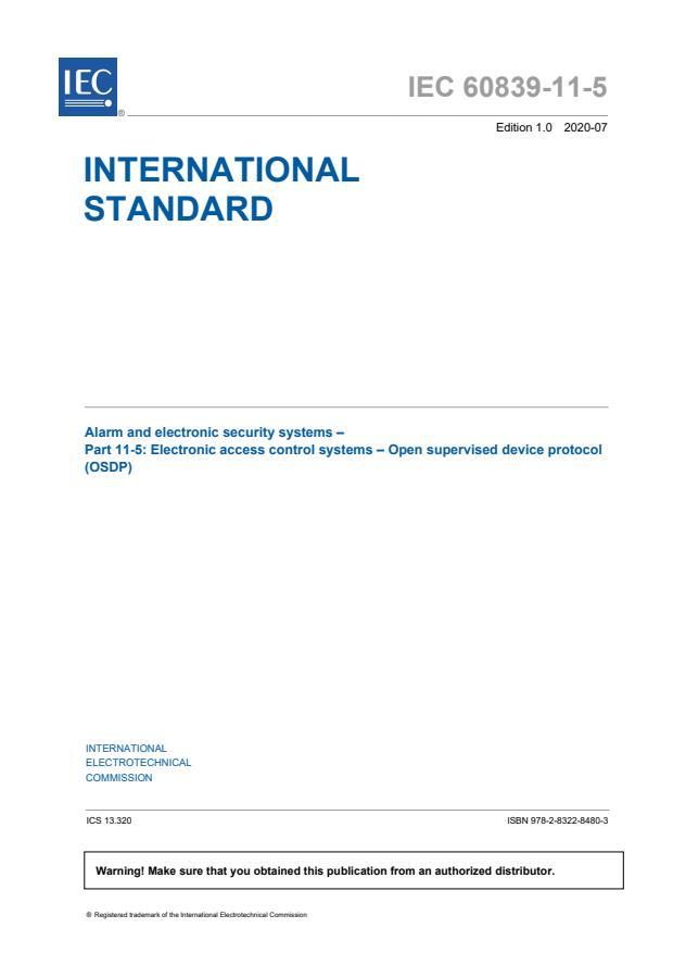 IEC 60839-11-5:2020