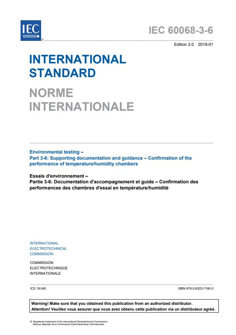 IEC 60068-3-6:2018