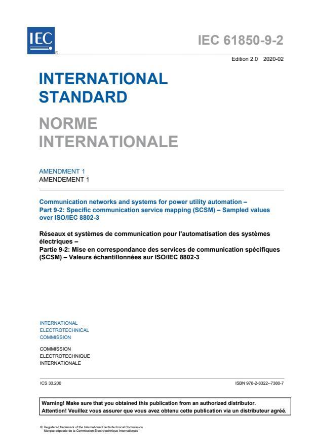 IEC 61850-9-2:2011/AMD1:2020