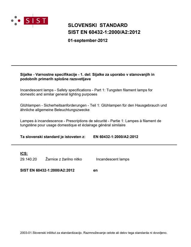 SIST EN 60432-1:2000/A2:2012