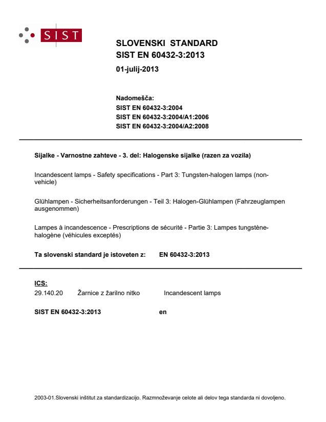 EN 60432-3:2013