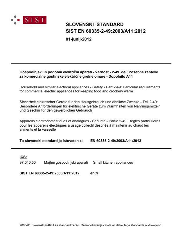 EN 60335-2-49:2003/A11:2012