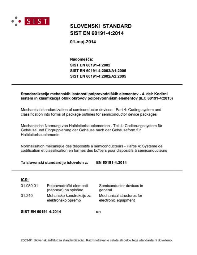 SIST EN 60191-4:2014 - BARVE na PDF-strani 19