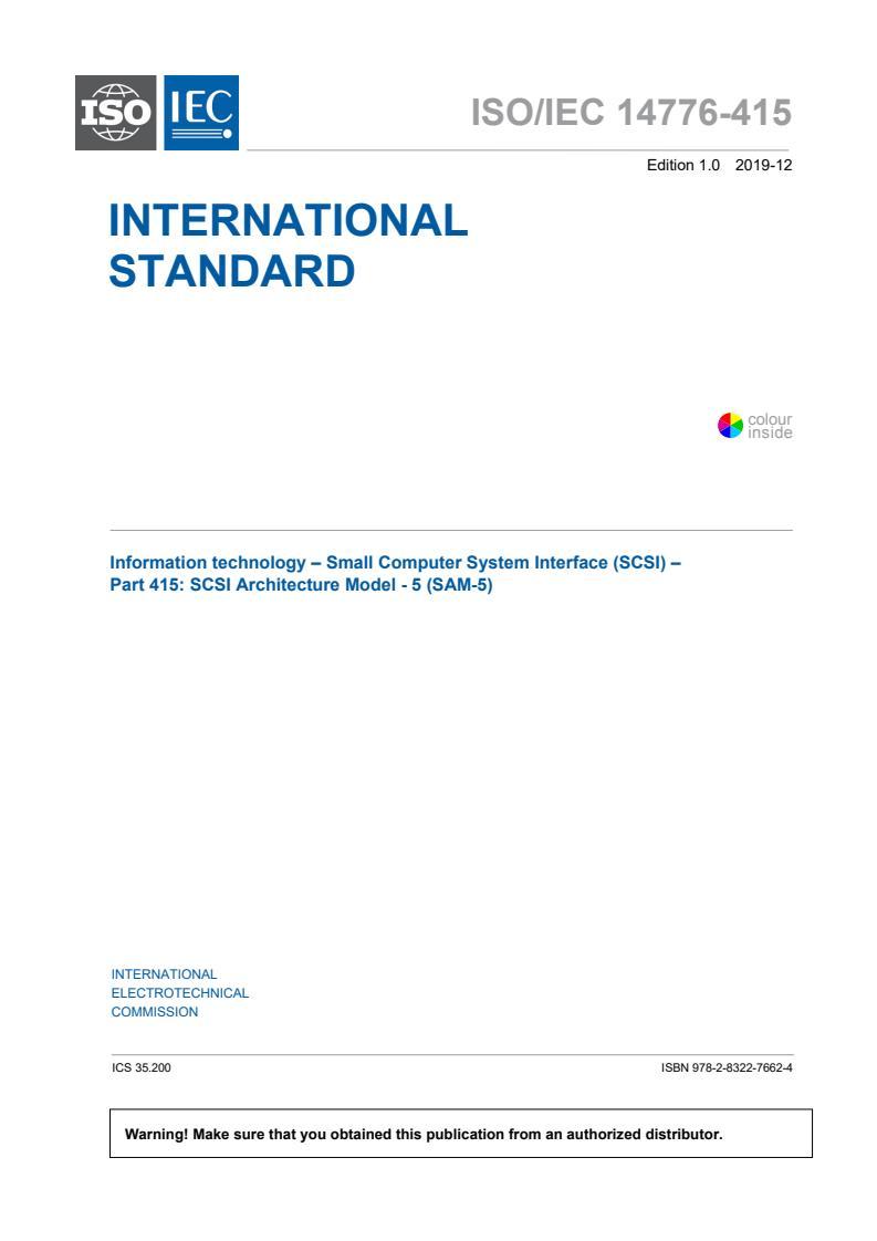 ISO/IEC 14776-415:2019