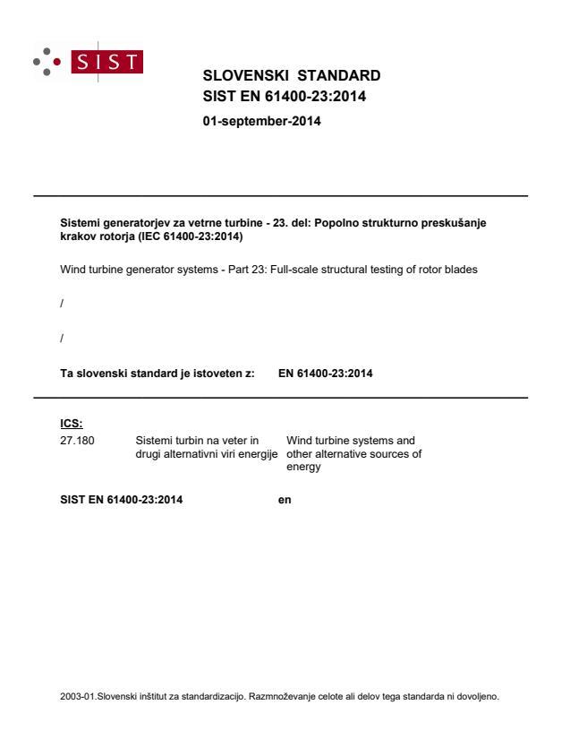 EN 61400-23:2014 - BARVE na PDF-strani 39,40,41,45,48