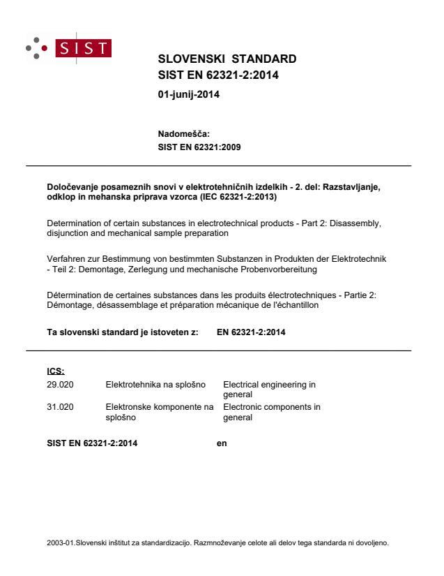 EN 62321-2:2014 - BARVE v standardu!