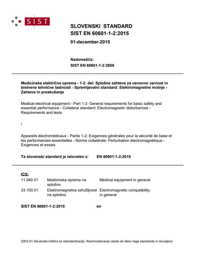 EN 60601-1-2:2015 - BARVE na PDF-str 76,77