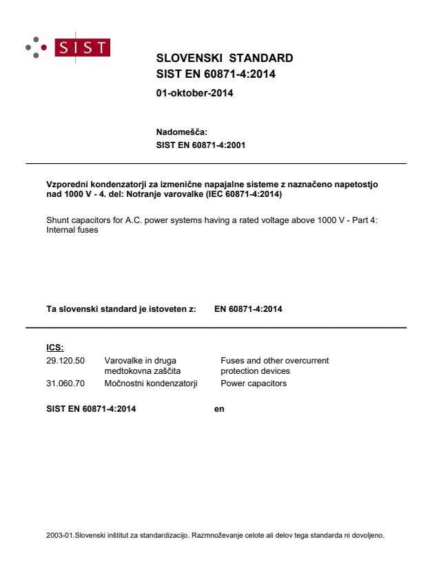 SIST EN 60871-4:2014