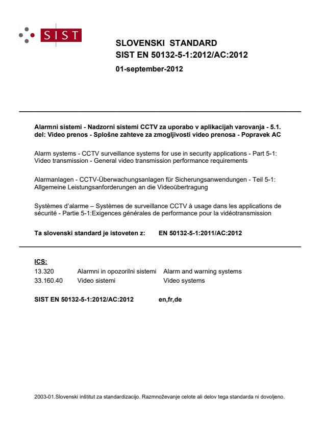 SIST EN 50132-5-1:2012/AC:2012