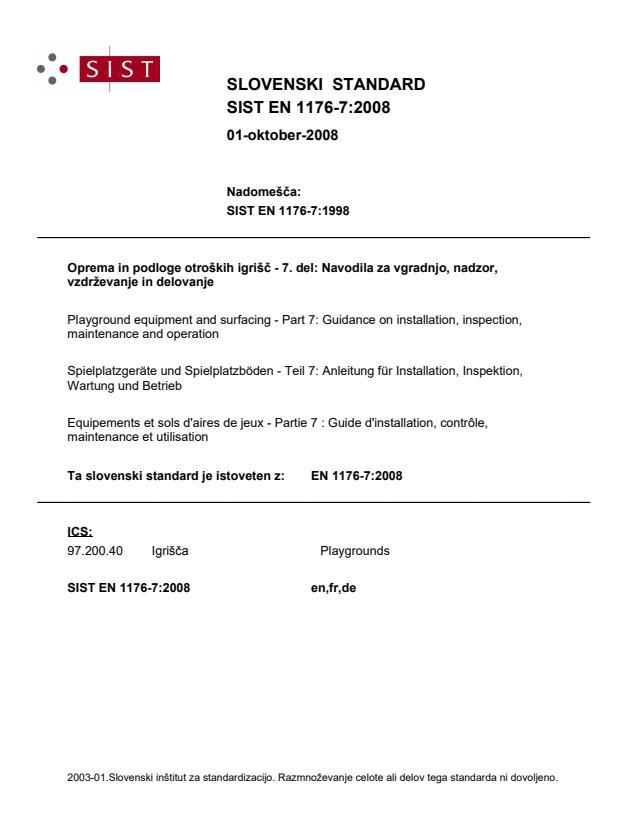 EN 1176-7:2008 (DE)