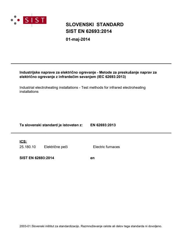 SIST EN 62693:2014