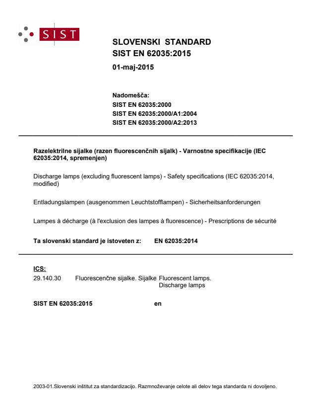 EN 62035:2014