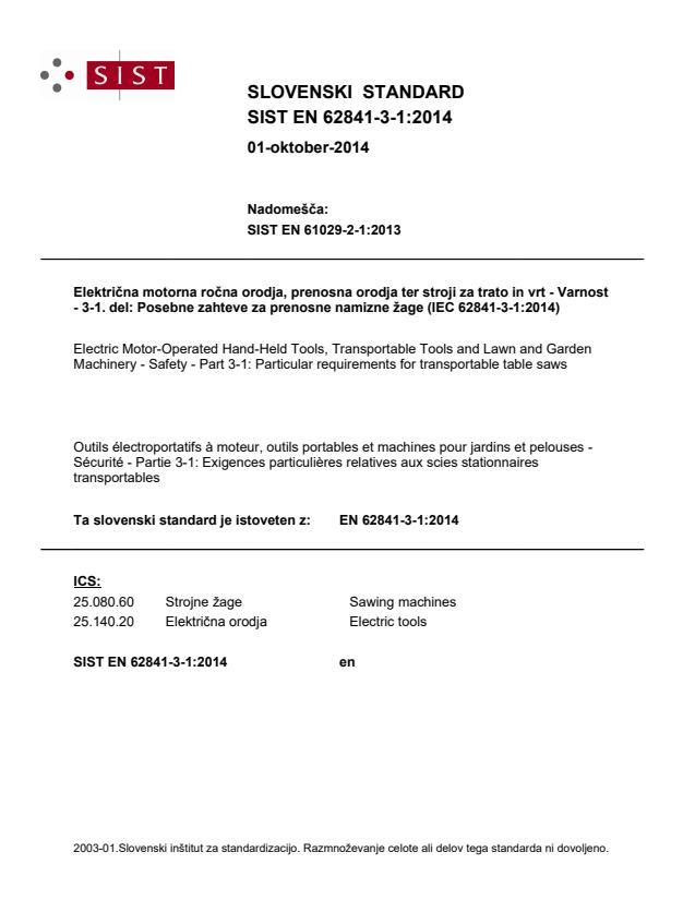 SIST EN 62841-3-1:2014