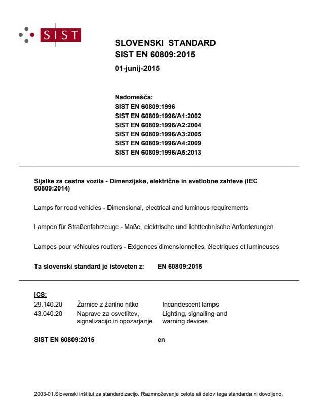 EN 60809:2015