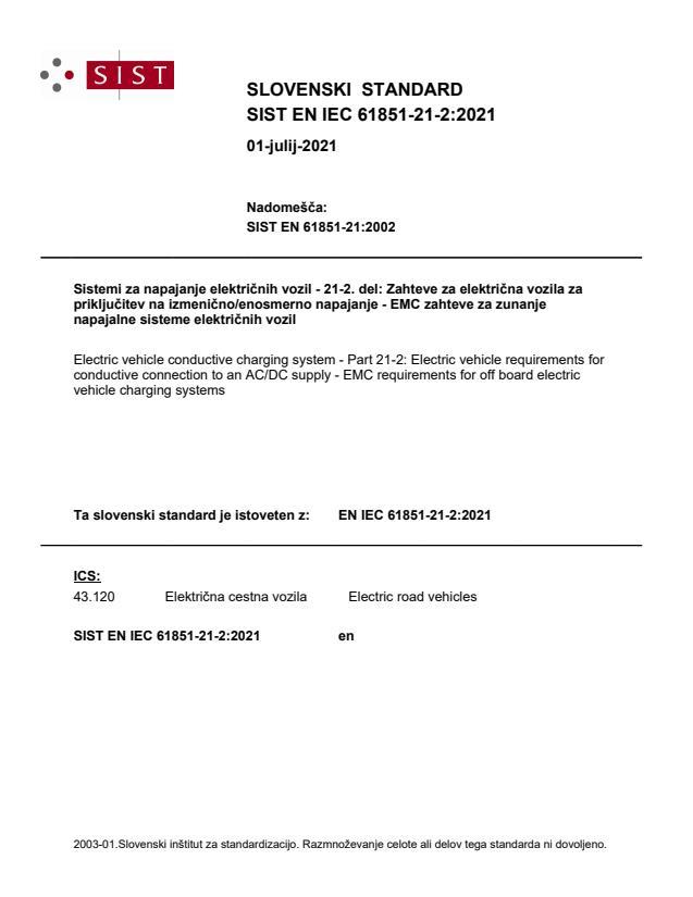 SIST EN IEC 61851-21-2:2021
