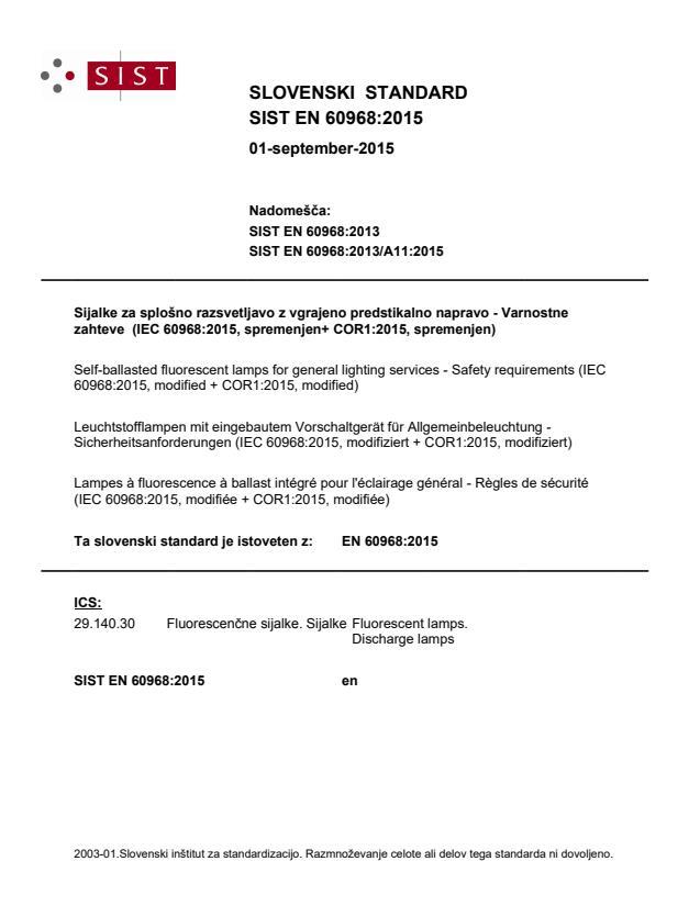 EN 60968:2015
