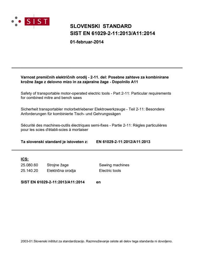 SIST EN 61029-2-11:2013/A11:2014