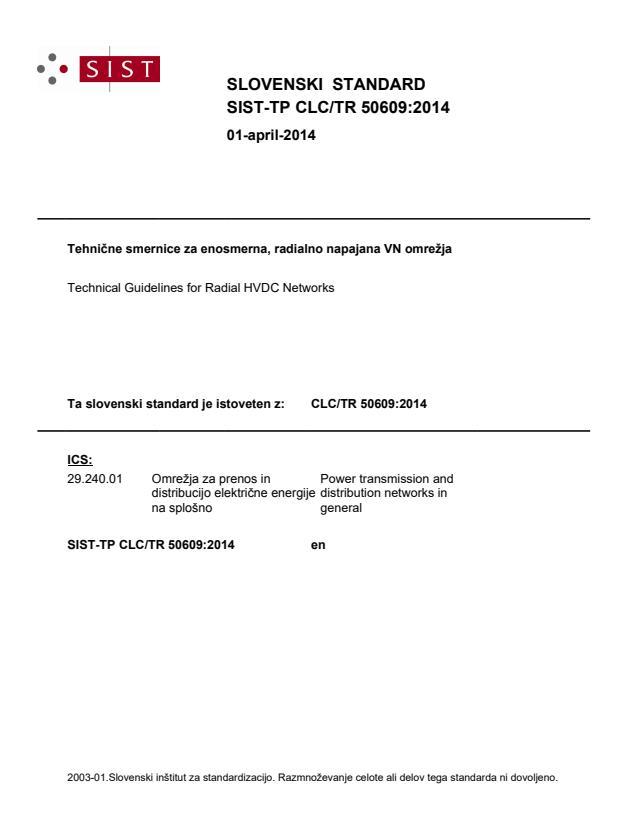 SIST-TP CLC/TR 50609:2014 - BARVE!!