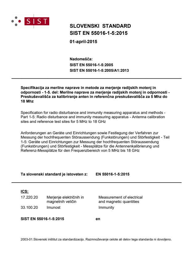 SIST EN 55016-1-5:2015 - BARVE na PDF-strani 32,46,51,96,97, brez fr-naslova na naslovici