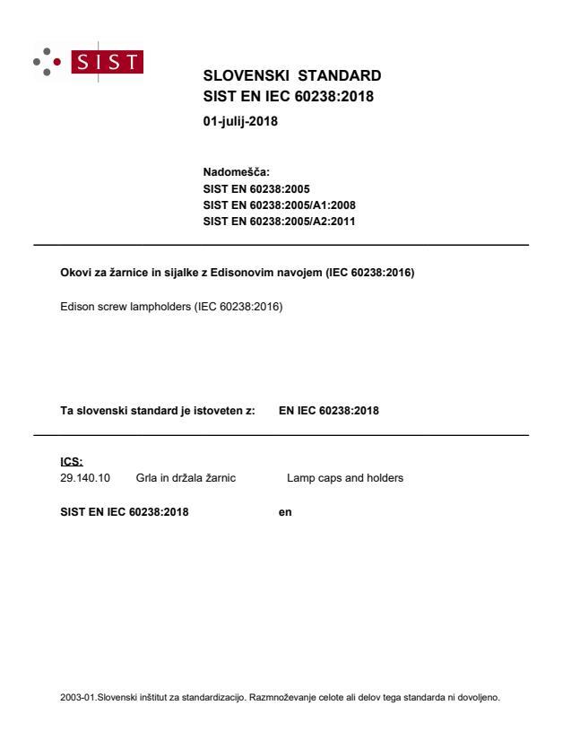 SIST EN IEC 60238:2018