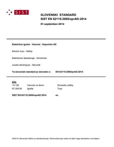 EN 62115:2005/oprAD:2014