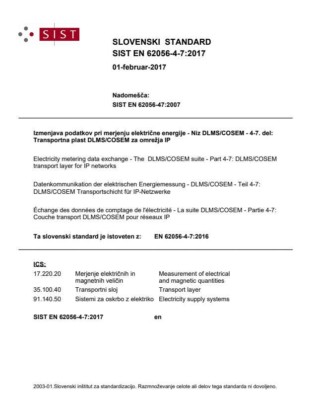 SIST EN 62056-4-7:2017