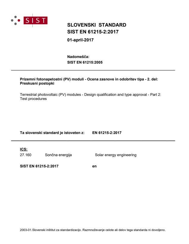 EN 61215-2:2017 - BARVE na PDF-str 23,24,26,27,30,31,35,37,46
