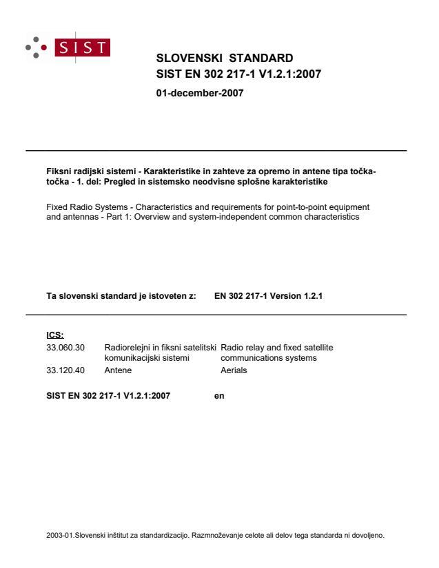 SIST EN 302 217-1 V1.2.1:2007