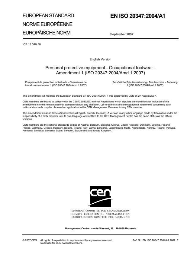 EN ISO 20347:2004/A1:2007