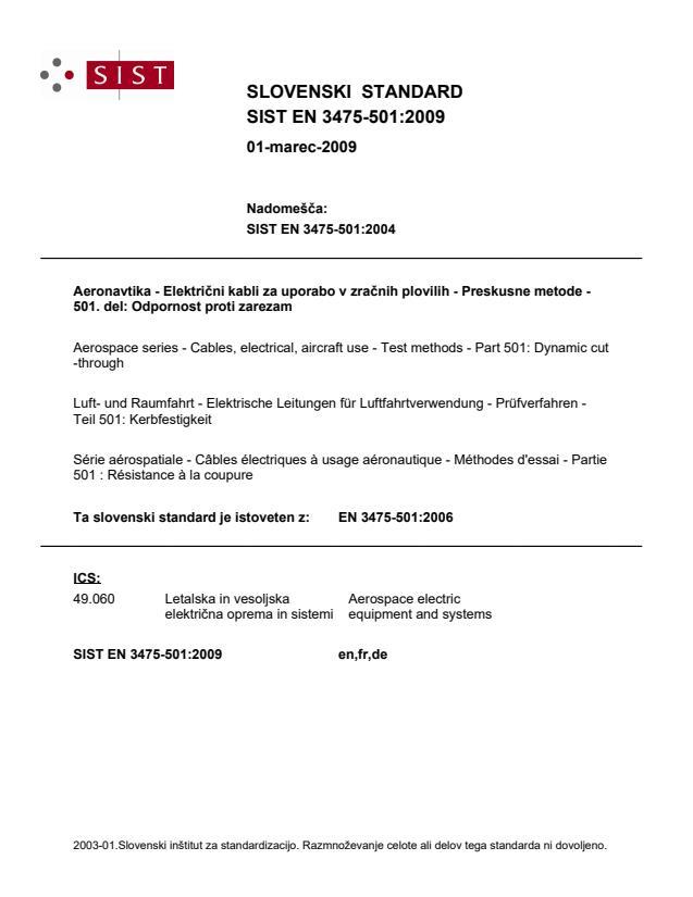 EN 3475-501:2009