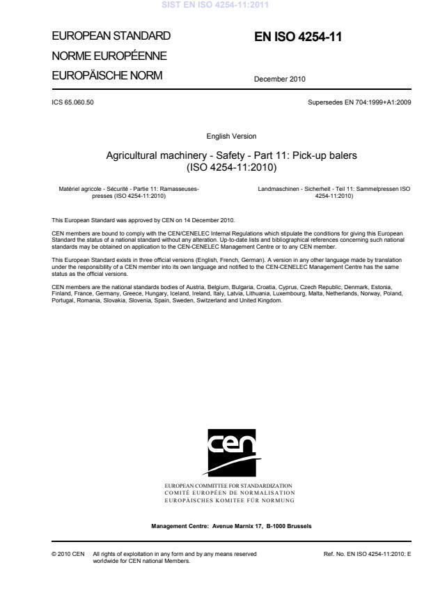 EN ISO 4254-11:2011