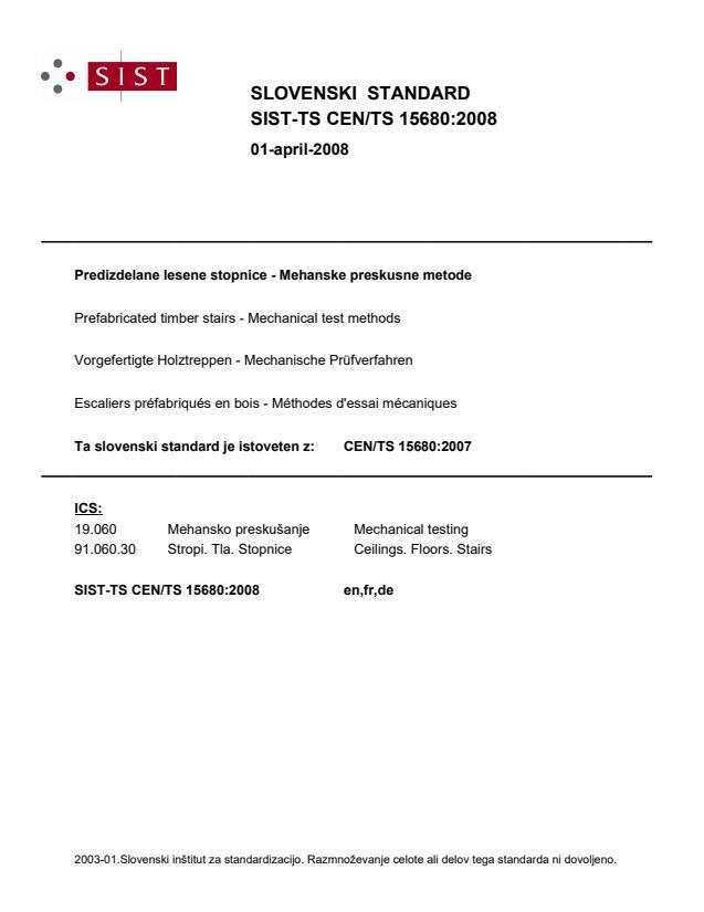 SIST-TS CEN/TS 15680:2008