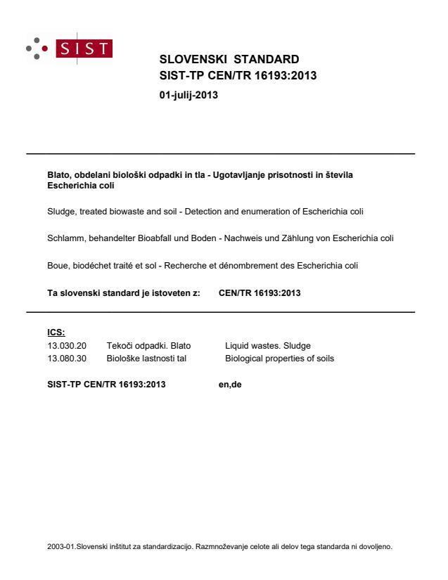 SIST-TP CEN/TR 16193:2013