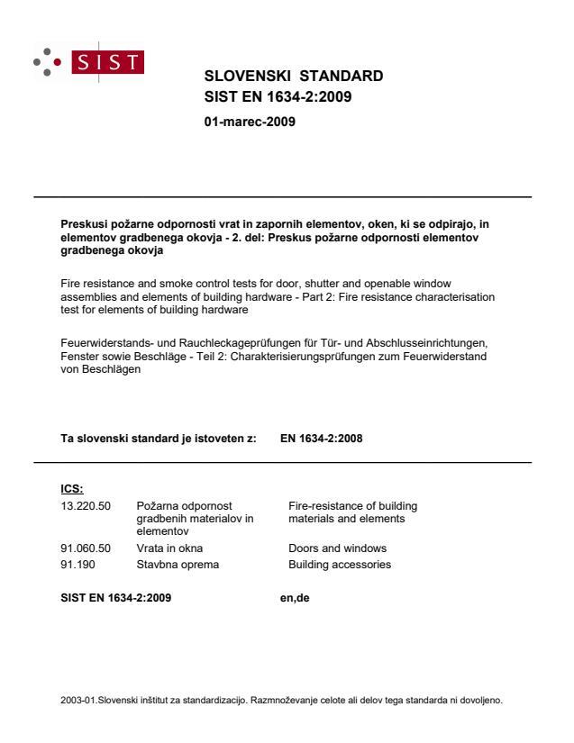 EN 1634-2:2008