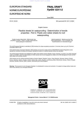 kSIST FprEN 12311-2:2009